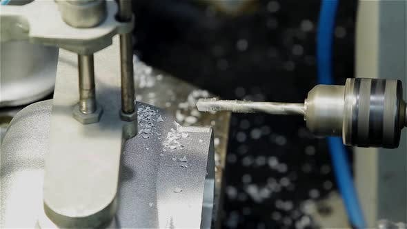 Thumbnail for CNC Lathe Machine Drilling the Metal.