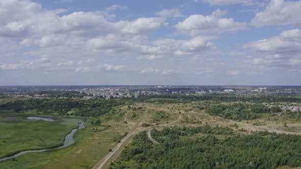 Cover Image for Aerial View Nature Near The City
