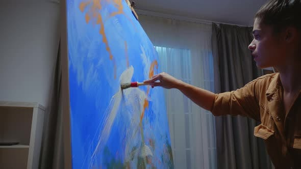 Talented Abstract Painter
