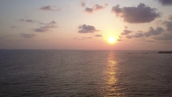 Thumbnail for Bright Evening Sun Reflected in Endless Ocean Water