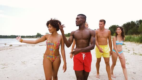 Thumbnail for Mixed Walking Along Beach with Friends 21