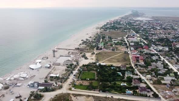 Sandy Beach From a Bird'seye View