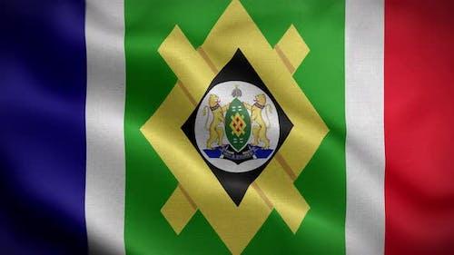 Johannesburg South Africa Flag Loop Background 4K