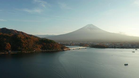 Thumbnail for Mt. Fuji in Autumn on Sunrise at Lake Kawaguchiko, Japan.