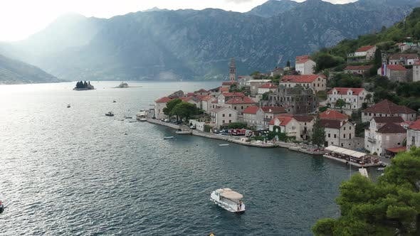 Perast Montenegro - old medieval town on the coast of Boka Kotor Bay.
