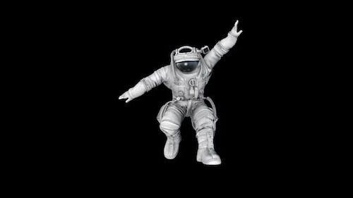 Astronaut Moon Jump