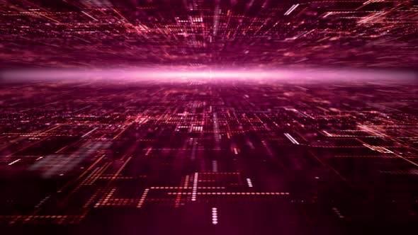 Thumbnail for Futuristic Digital Abstract Matrix Particles Grid 07