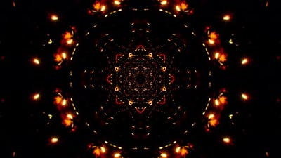 Symmetrical Circular Fire Spark Particles