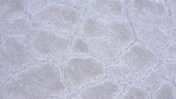 Thumbnail for Aerial View Looking Down at Cracks in The Bonneville Salt Flats