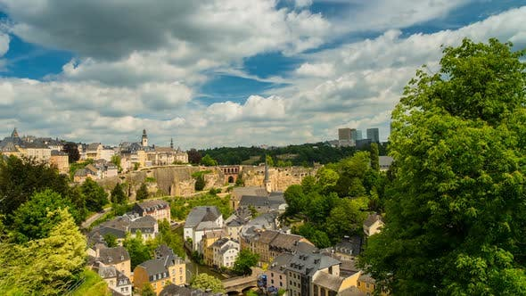 Thumbnail for Beautiful Clouds over Luxembourg City