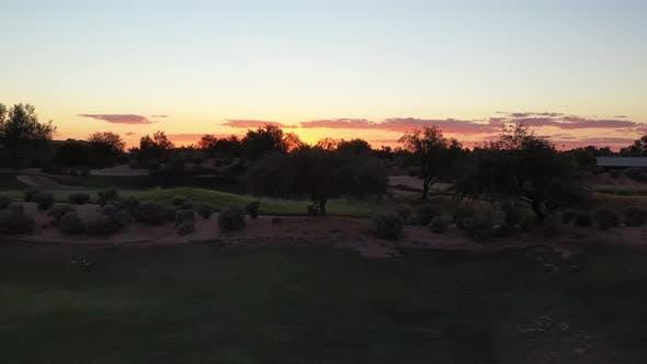 Desert Golf Course Sunste Parallax 4 K