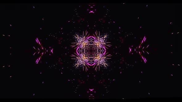 colorful fireworks exploding effect kaleidoscope
