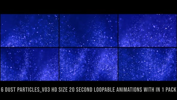 Glittering Particles Pack Blue V03