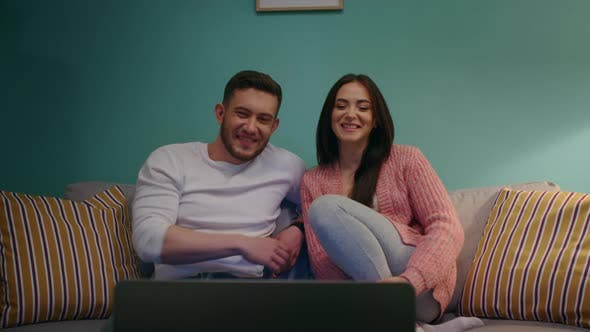 Young Couple Is Making Video Call