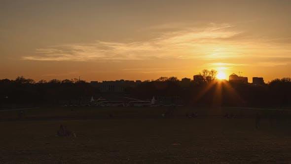 Thumbnail for Washington Lincoln Memorial Sunset