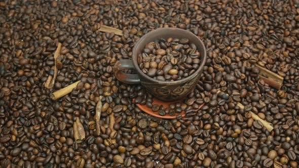 Thumbnail for Beautiful Coffee Beans And Cinnamon On The Table