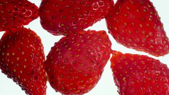 Thumbnail for Closeup Video von Lotd von reifen Erdbeeren Quetschen und Füllen des Bildschirms. Perfekter Abstrakt