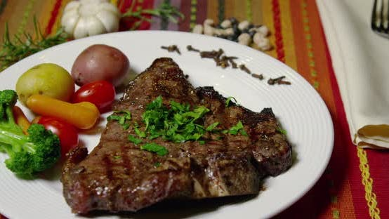 Thumbnail for NY Strip Steak Grilled And Seasoned With Fresh Herbs 47b