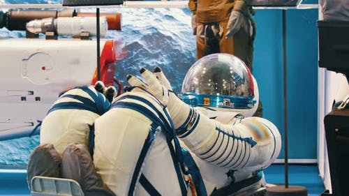 Spacesuits on the Aircraft Technology Exhibition