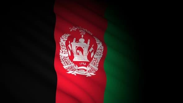Afghanistan Flag Blowing in Wind