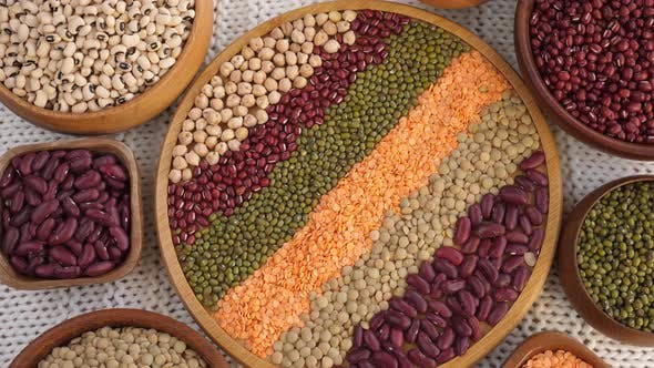 Healthy Eating Concept. Beans and Legumes.
