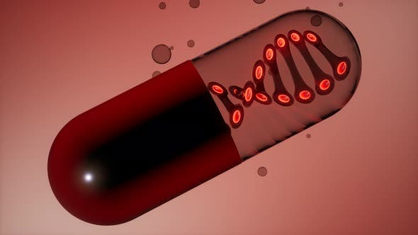 Thumbnail for Micro Capsule with DNA Illustration