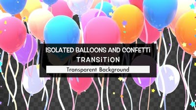Isolated Balloons And Confetti Transition