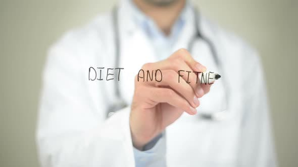 Thumbnail for Diet and Fitness, Doctor Writing on Transparent Screen