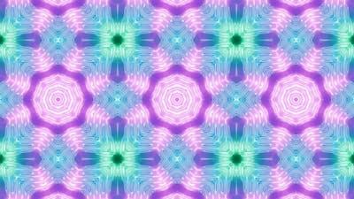 Fluorescent Color Kaleidoscope 01