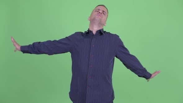 Thumbnail for Tired Businessman Feeling Sleepy and Yawning