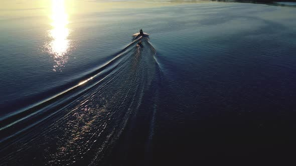 Thumbnail for Landscape of the River, Speed Boat on the River