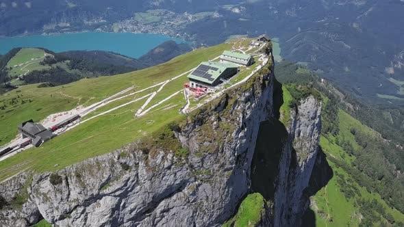 Aerial of Schafberg Summit, Upper Austria