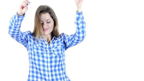 Dancing Female on White Background