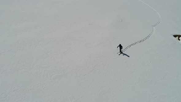Cover Image for Skier Walking Snow