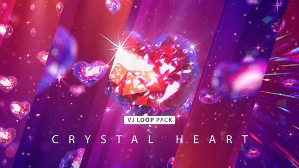 Thumbnail for Crystal Heart Vj Loop Pack