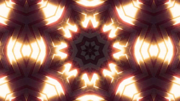 Neon Light Glow Kaleidoscope V1