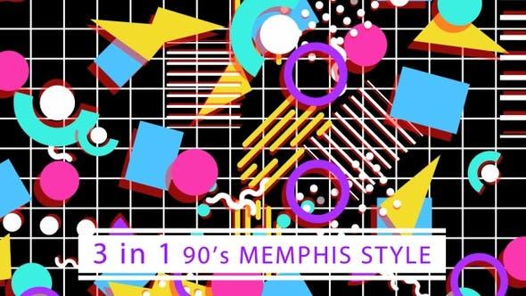 Thumbnail for 90's Memphis Style (Black)