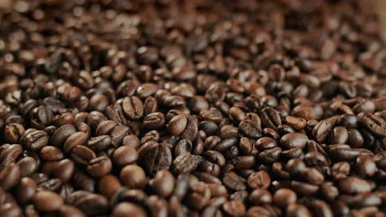 Lots of Roasted Coffee Beans