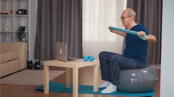 Thumbnail for Old Man on Balance Ball