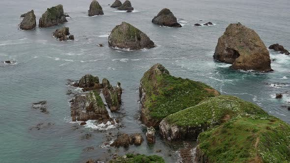 The rock formation at Nugget Point, South Island