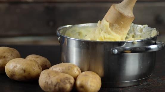 A Pot of Hot Mashed Potatoes