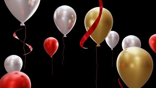 Balloon Happy Birthday Looping 2K