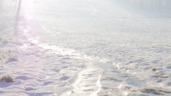 Thumbnail for Fog over snowes ski complex on  Kraljevica park hill 4K 2160p UHD footage - Ski complex hills  and f