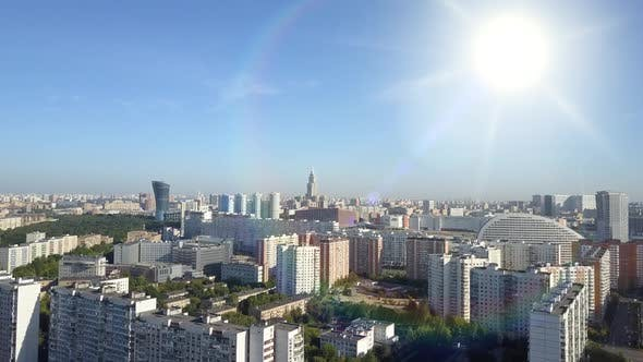 Thumbnail for Extensive Panoramic Top View of Residential Buildings, Modern Buildings in the Morning Under Bright