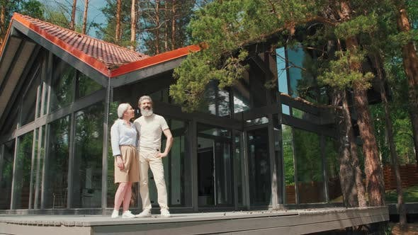 Thumbnail for Elderly Couple Enjoying Summer Day in Vacation Home