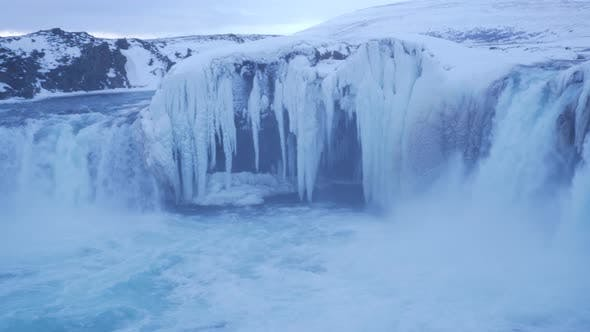 Thumbnail for Iceland View Of Beautiful Godafoss Waterfall In Winter 3