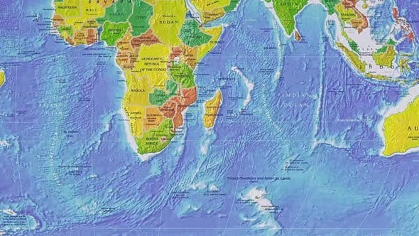 Thumbnail for Geographic Map Image Of The Earth's Surface