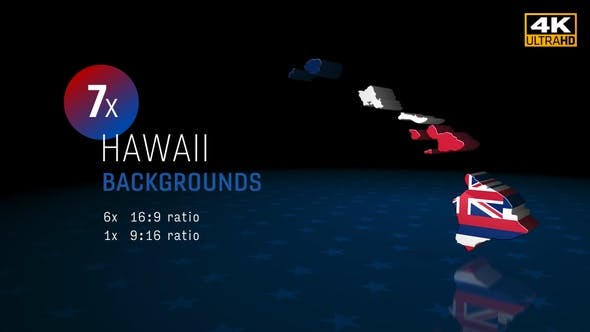 Hawaii State Election Background 4K - 7 Pack