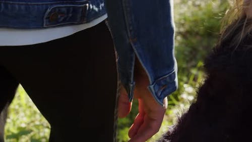 Dad And Baby Held Hands