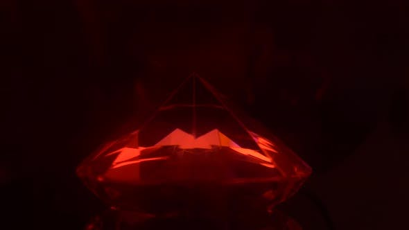 Thumbnail for Bright Red Color Turning Into a Blue Sparkling Diamond